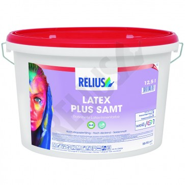 Relius Latex Plus Samt weiß 12,5 l